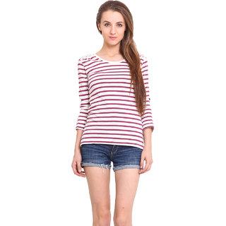 Ama Bella Women Pink T-Shirt