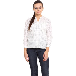 Pink Lemon Women White Shirt