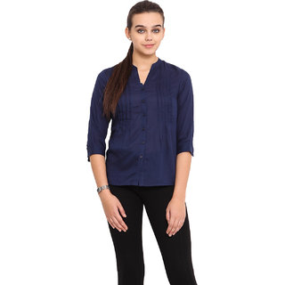 Pink Lemon Women Blue Shirt