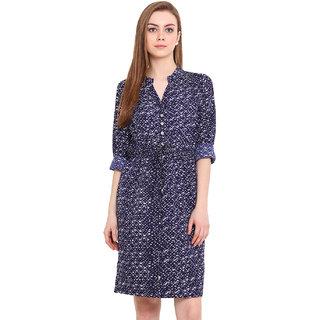 Blink Women Purple V-Neck Casual Dress