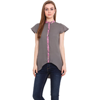 Blink Women Grey Georgette  Shirt
