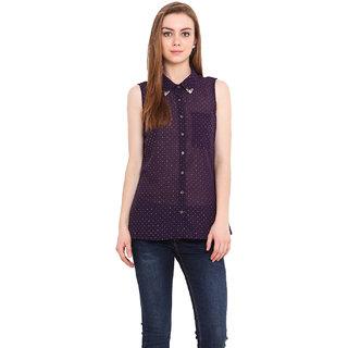 Blink Women Purple Georgette  Shirt