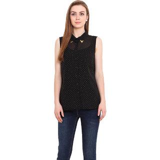Blink Women Black Georgette  Shirt