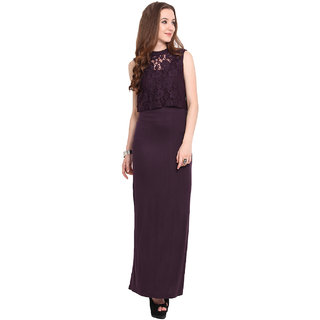Blue Sequin Women Wine Round Neck Casual Dress
