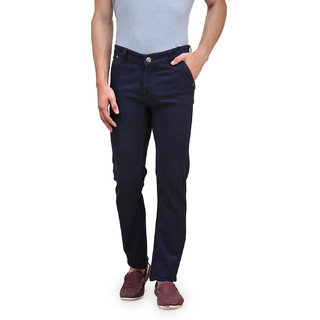 SAVON Mens Slim Fit  Stretch Blue  Denim Jeans For Men (NI10291-03)