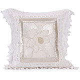 SUNFLOWER - Off-white Cotton Krochia Cushion Cover -SET OF 2