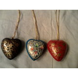 "Free Shipping Decorative Heart Fully Designed 3"" (combo Of 3)"