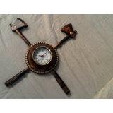 Free Shipping Wooden Axe Designable Wall Clock