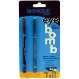 Metallic Eye Pencil (Buy 1 Get 1 Free) - Jet Black / Cool Purple
