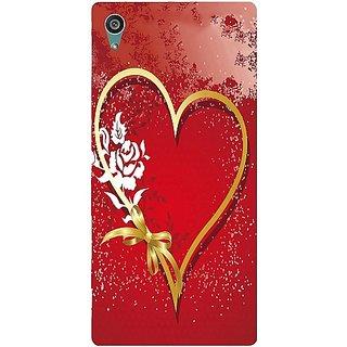 Casotec Love Rose Design Hard Back Case Cover For Sony Xperia Z5 Dual gz8055-11185