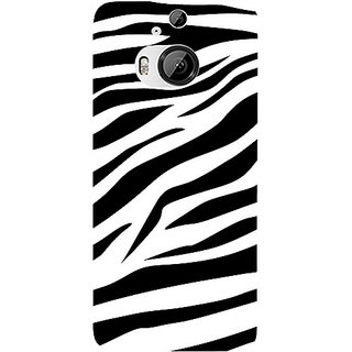 Casotec Black And White Design Hard Back Case Cover For Htc One M9 Plus gz8057-12149