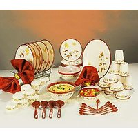 Nayasa 56 Pc Printed Dinner Set