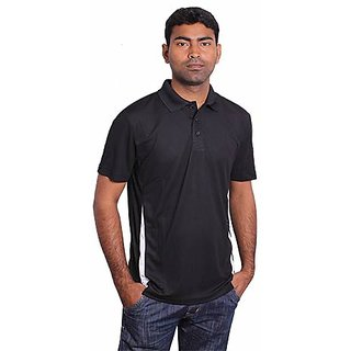 Puma Men Black Stride Polo T-Shirt