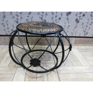 Onlineshoppee Wooden & Wrought Iron Chair (Option 5)