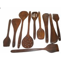 Onlineshoppee Wooden Spoon Set (Option 5)