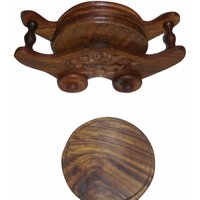 Onlineshoppee Wooden Coaster Set (Option 2)