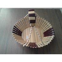 Onlineshoppee Wooden Fruit Basket With Handle (Option 1)