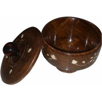 Onlineshoppee Wooden Bowl & Free Tea Spoon