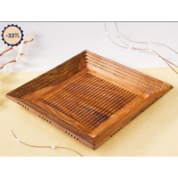 Onlineshoppee Wooden Handcrafted Serving Tray (Option 1)