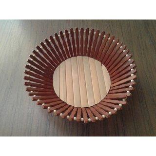 Onlineshoppee Wooden Fruit Basket (Option 1)