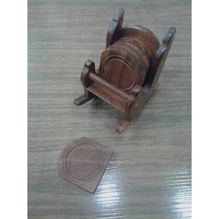 Onlineshoppee Wooden Chair Coaster Set (Option 3)