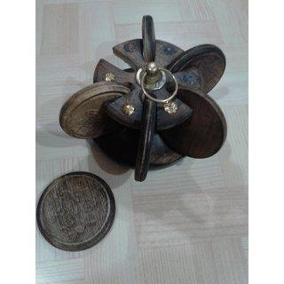 Onlineshoppee Wooden Coaster Set (Option 3)