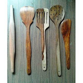 Onlineshoppee Wooden Spoon Set (Option 2)