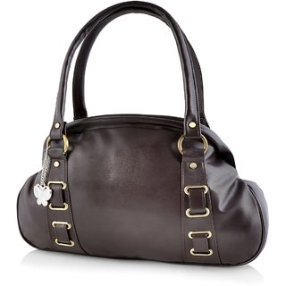 Butterflies Dark Brown Handbag
