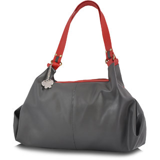 Butterflies Grey Handbag