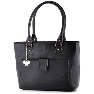 Butterflies Black Handbag