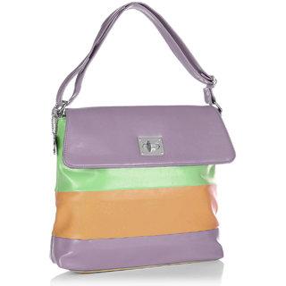 Butterflies Mauve Shoulder Bag