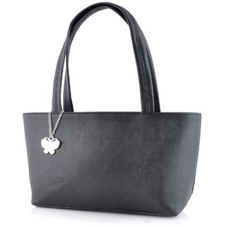 Butterflies Black Handbag