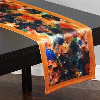 Lushomes Digital Printed Cream Themed Polyester Table Runner