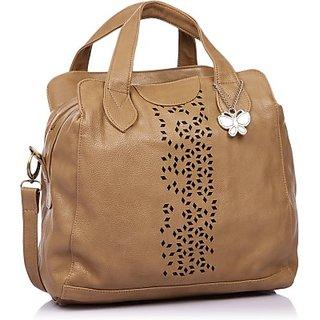 Butterflies Beige Handbag