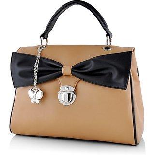 Butterflies Beige Shoulder Bag
