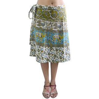 Pezzava Womens Cotton Wraparound Knee Length Skirt (SKT-WCK-A0201)
