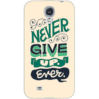 EYP Quotes Never Give Up Back Cover Case For Samsung Galaxy S4 Mini I9192 161153