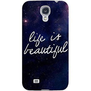 EYP Quotes Life is Beautiful Back Cover Case For Samsung Galaxy S4 Mini I9192 161173