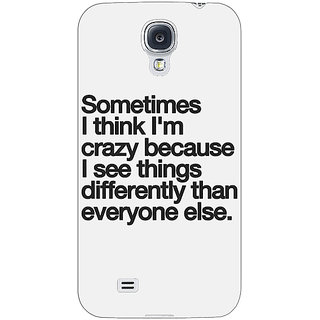 EYP Crazy Quote Back Cover Case For Samsung Galaxy S4 Mini I9192 161214