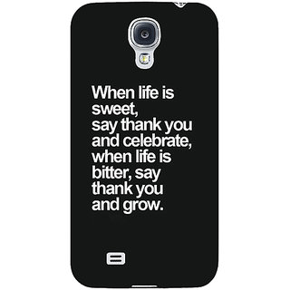 EYP Quote Back Cover Case For Samsung Galaxy S4 Mini I9192 161473
