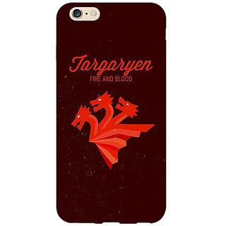EYP Game Of Thrones GOT House Targaryen  Back Cover Case For Apple iPhone 6 Plus 170137