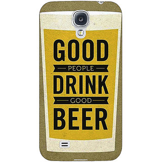 EYP Beer Quote Back Cover Case For Samsung Galaxy S4 Mini I9192 161220