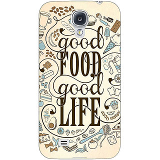 EYP Good Food Quote Back Cover Case For Samsung Galaxy S4 Mini I9192 161226