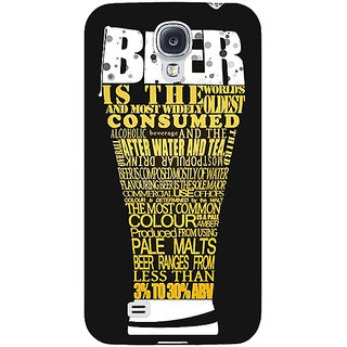 EYP Beer Quote Back Cover Case For Samsung Galaxy S4 Mini I9192 161227