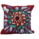 Sequined Red Cushion Cover - Set Of 2