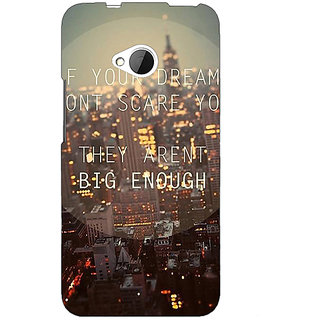 EYP Quotes Dreams Back Cover Case For HTC One M7 191143
