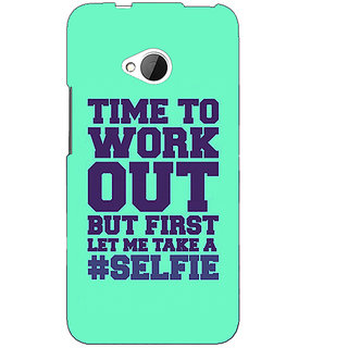 EYP Selfie Quote Back Cover Case For HTC One M7 191499