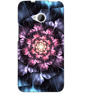 EYP Abstract Flower Pattern Back Cover Case For HTC One M7 191514