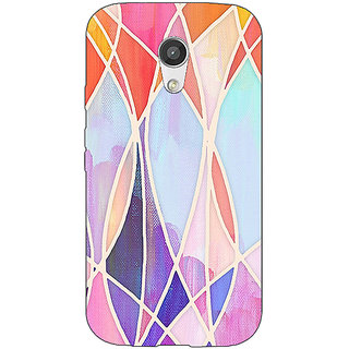 EYP Designer Geometry Pattern Back Cover Case For Moto G (2nd Gen) 200237
