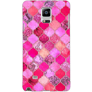 EYP Pink Moroccan Tiles Pattern Back Cover Case For Samsung Galaxy Note 4 210288